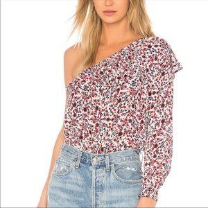 Jack✨one shoulder floral top